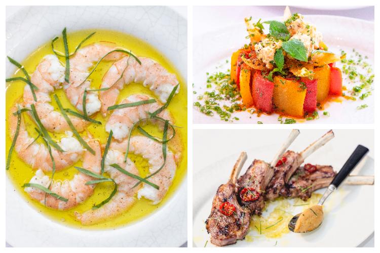 Warm Prawns with Olive Oil:鮮甜彈牙的大蝦伴以頂級橄欖油、檸檬汁、羅勒絲、法國海鹽,簡單清新又美味!